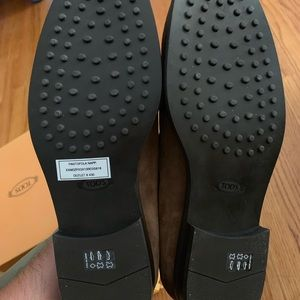 Tod's Suede Dark Brown Tasselled Loafers Brand New